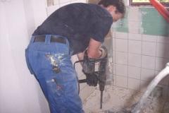 Erste Ausbauarbeiten am Vereinshaus